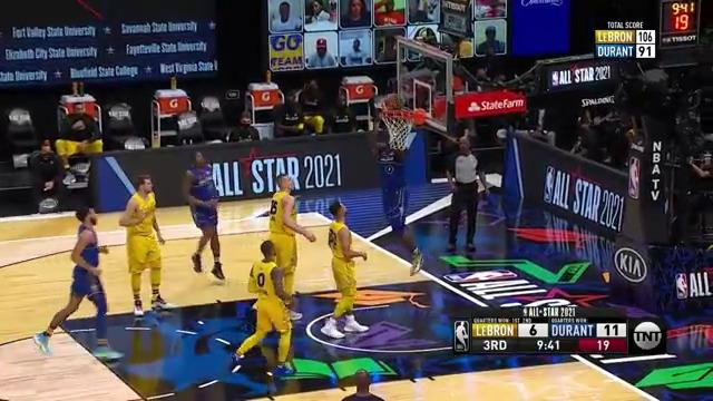 Zion Williamson finishes at the rim | 2021 NBA All-Star Game Highlights
