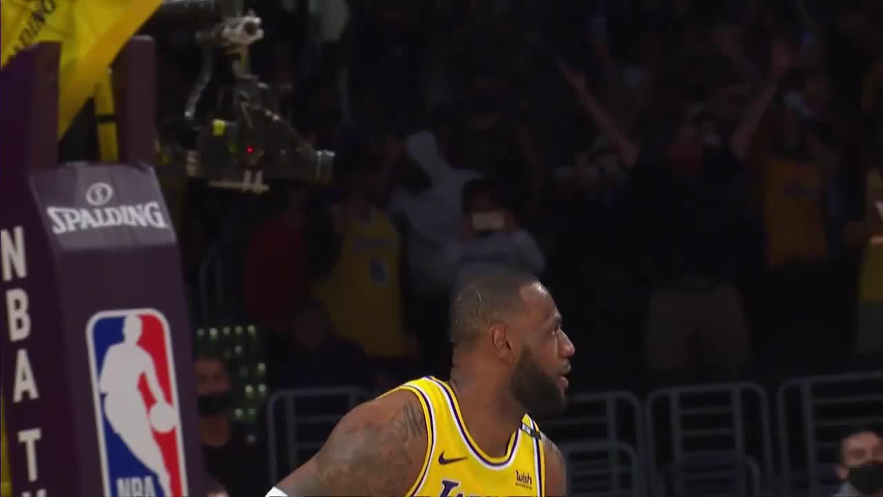 What a play by LeBron James