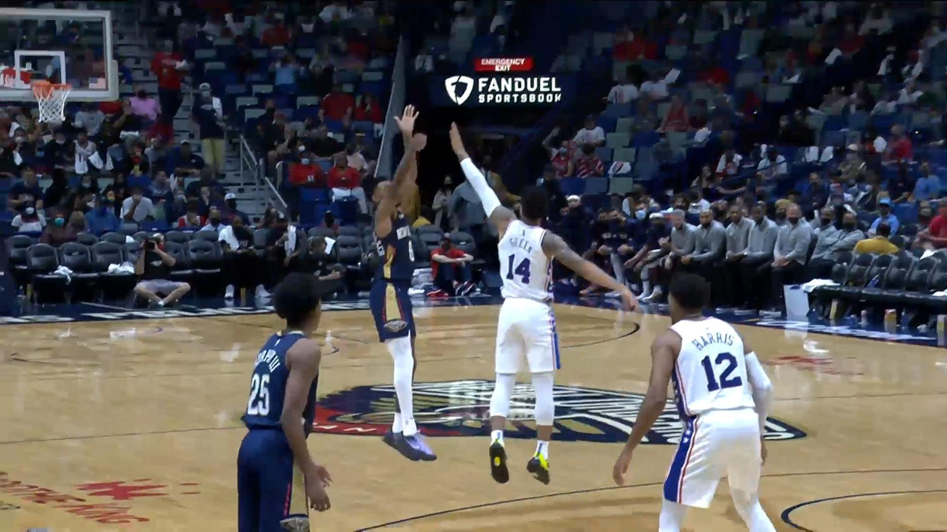 Nickeil Alexander-Walker with a pair of triples | Pelicans-76ers Highlights