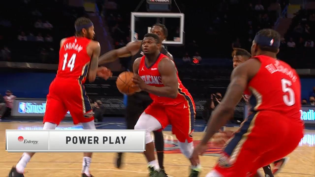 Zion Williamson hammers it home | Pelicans-Knicks Highlights