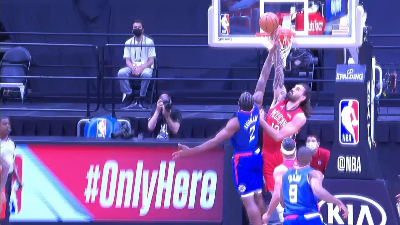 Pelicans-Clippers Highlights: Steven Adams blocks Kawhi (1/13/21)
