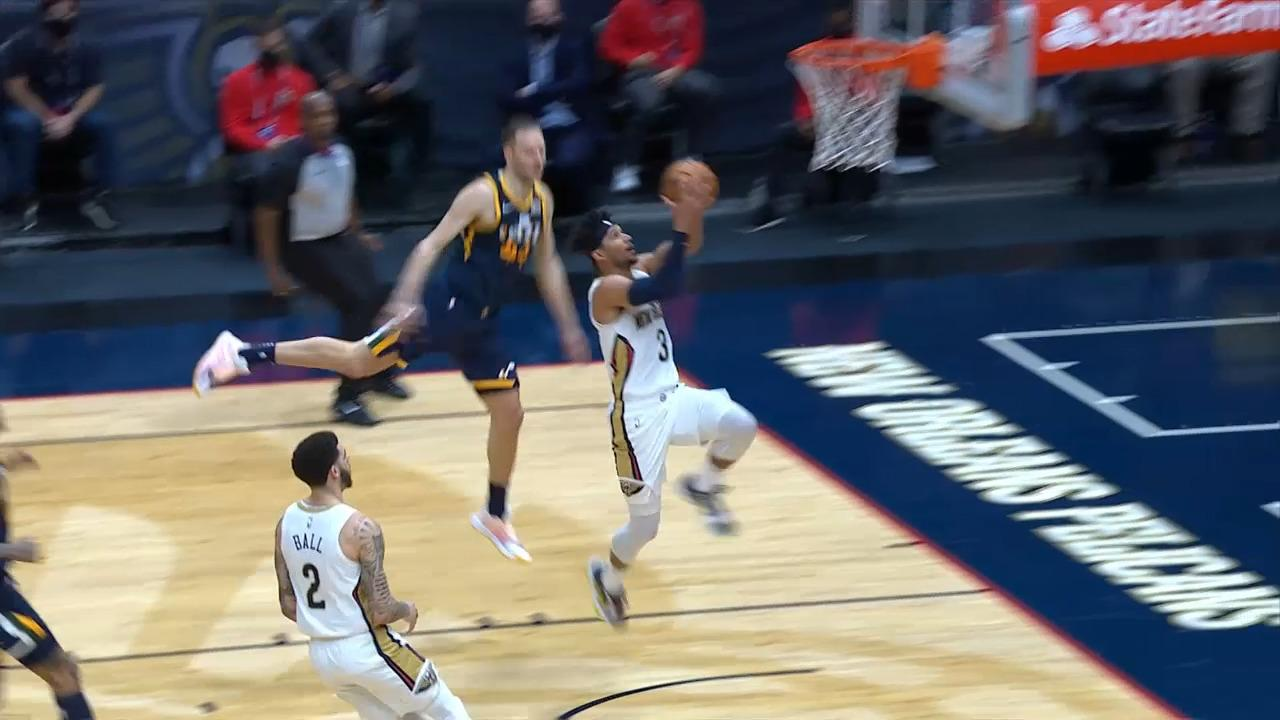 Josh Hart fast-break finish | Pelicans-Jazz Highlights