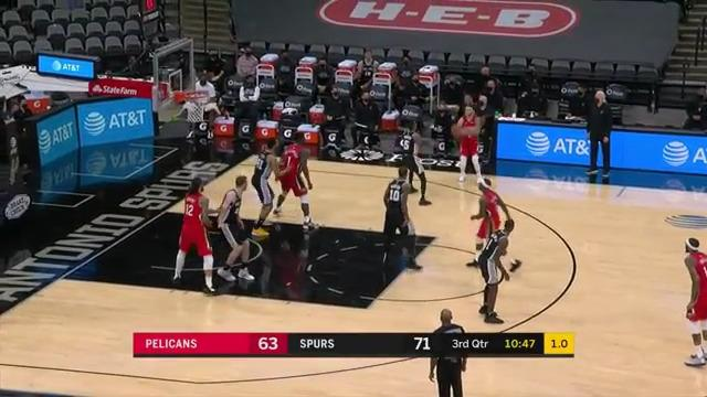 Lonzo Ball nails three-pointer | Pelicans-Spurs Highlights