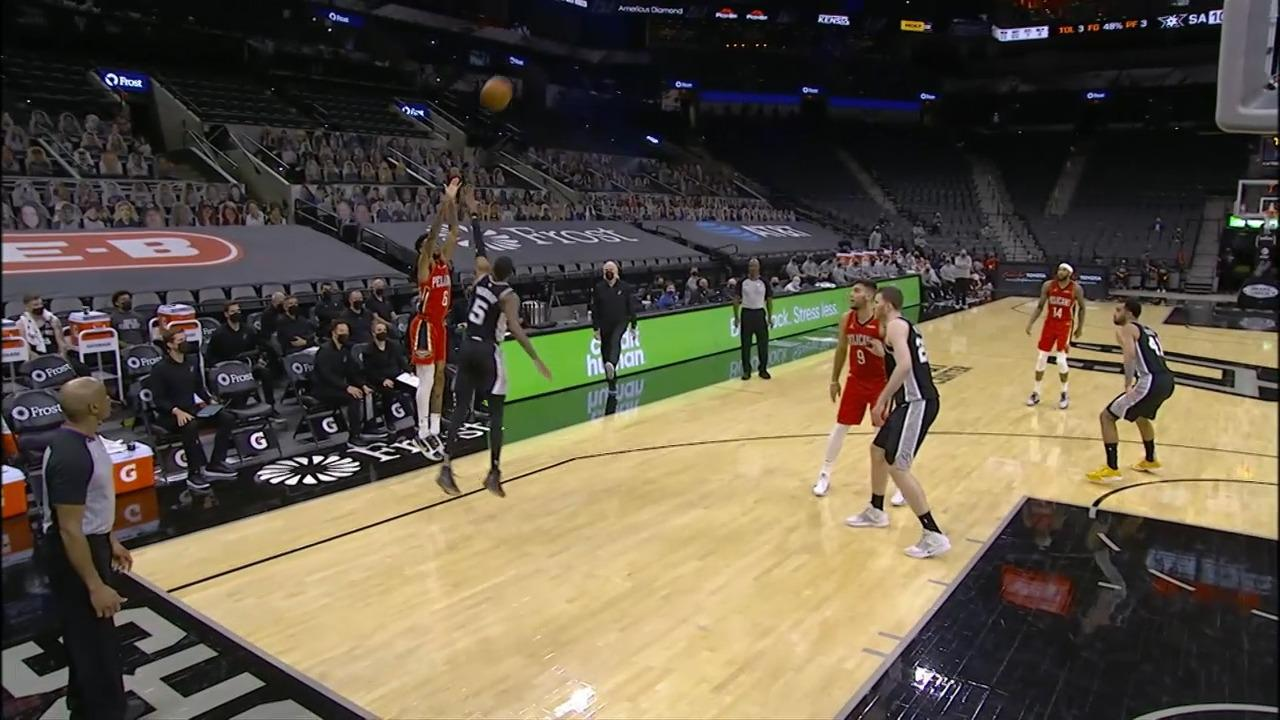 Nickeil Alexander-Walker hits contested three-pointer | Pelicans-Spurs Highlights