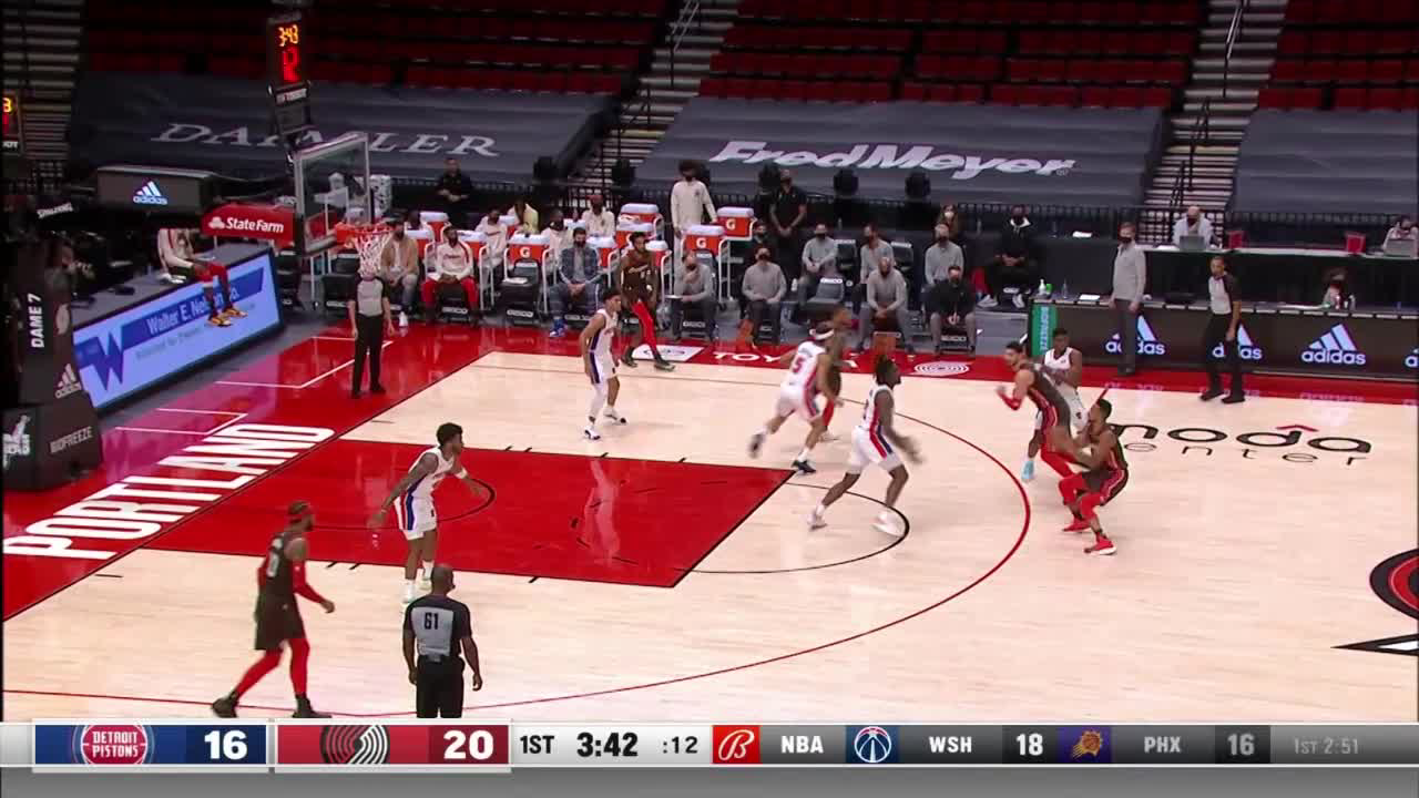 Frank Jackson Points in Portland Trail Blazers vs. Detroit Pistons