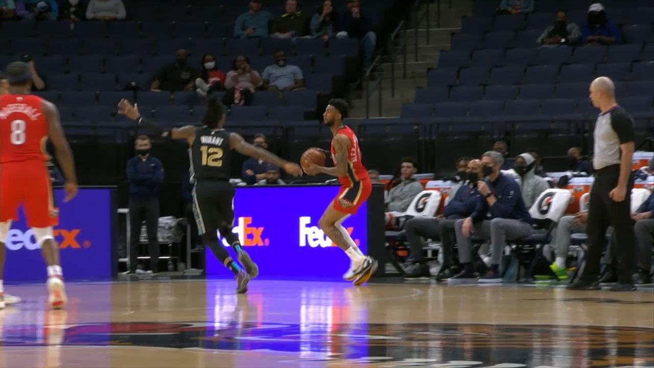 Nickeil Alexander-Walker connects beyond the arc | Pelicans-Grizzlies Highlights