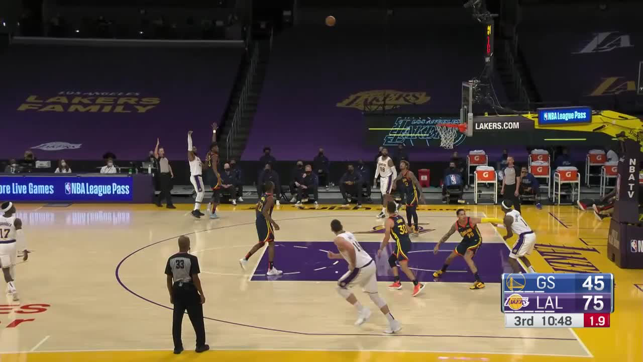 Golden State Warriors Top Dunks vs. Los Angeles Lakers