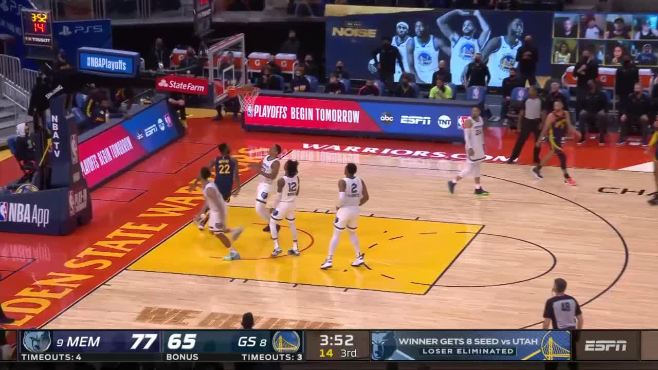 Andrew Wiggins with one of the day's best plays!