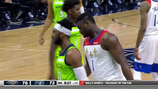 Zion Williamson protects the rim | Pelicans-Timberwolves Highlights