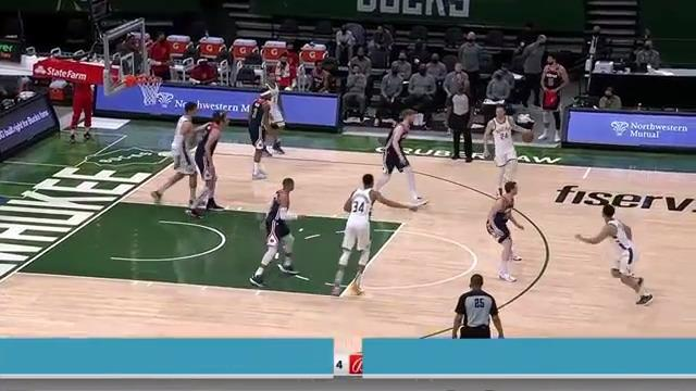 Giannis Extends For The Bucket