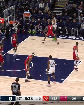 3-pointer by Patrick Beverley