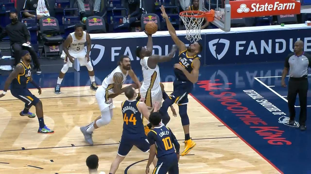 Zion Williamson strong move vs. Rudy Gobert | Pelicans-Jazz Highlights