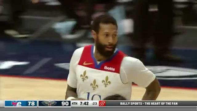 James Johnson off the dribble with touch | Pelicans-76ers Highlights