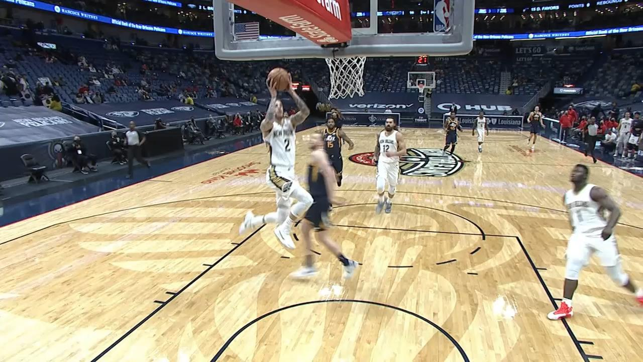Lonzo Ball fast-break slam | Pelicans-Jazz Highlights