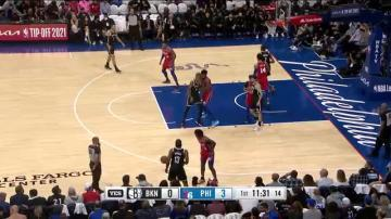 Highlights: Harden vs. Sixers   20PTS, 8AST