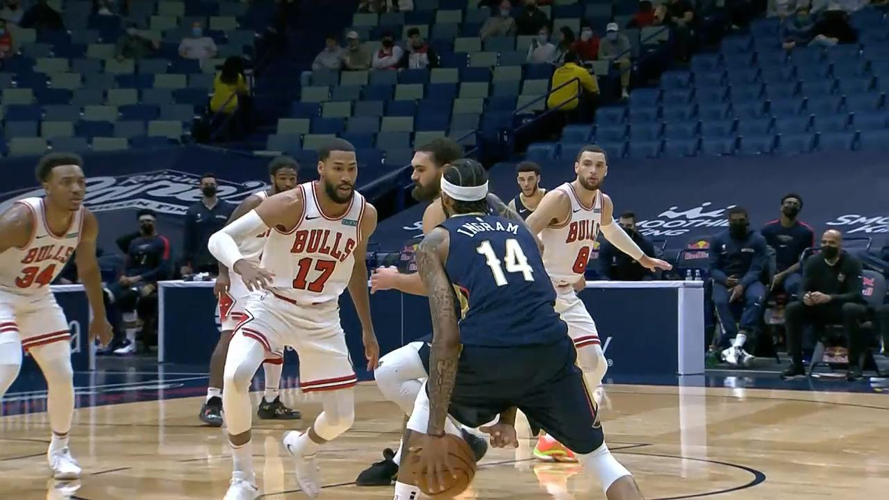 Brandon Ingram works hard for the jumper | Pelicans-Bulls Highlights