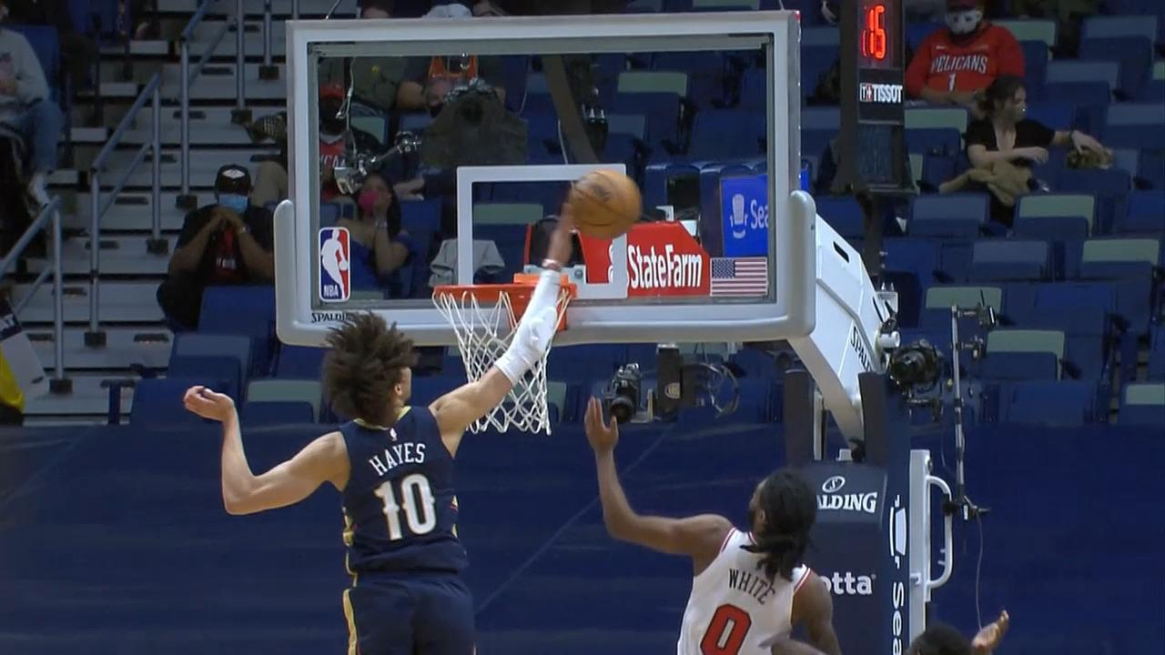 Highlights: Jaxson Hayes big impact in limited minutes vs. Chicago Bulls 3-3-21