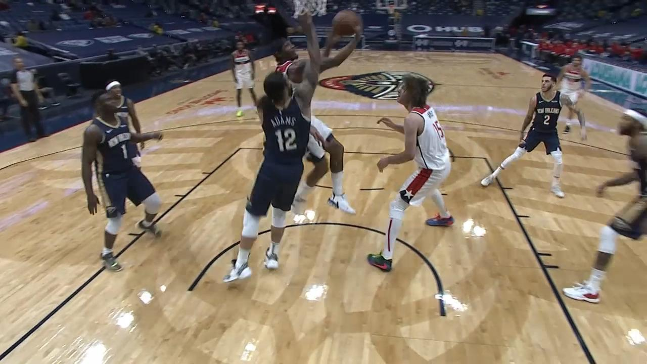 Steven Adams defending the paint | Pelicans-Wizards Highlights