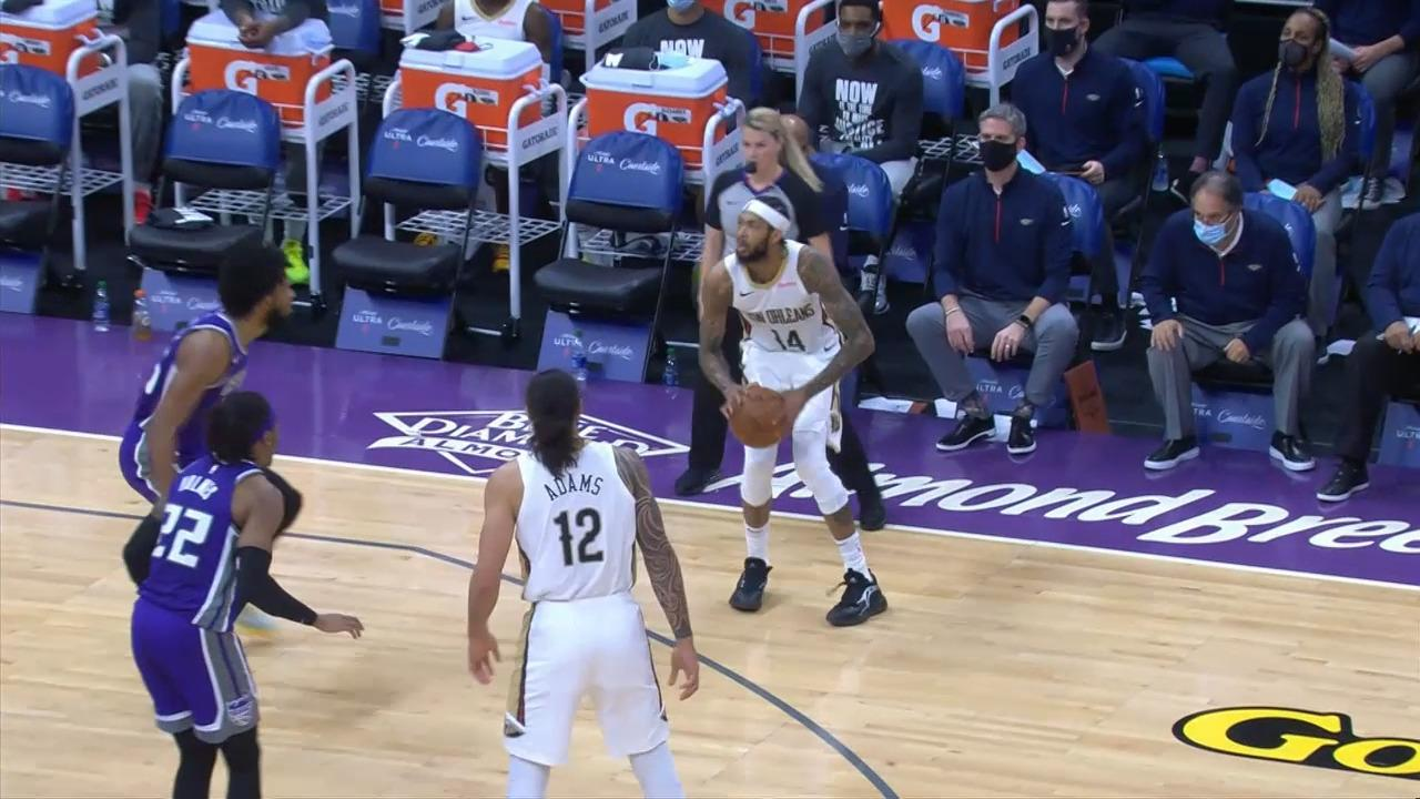 Brandon Ingram drills triple | Pelicans-Kings Highlights