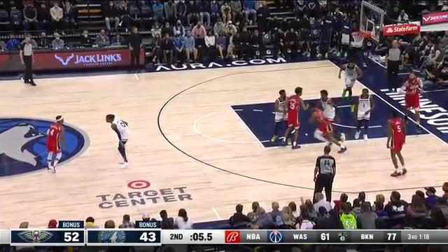 Devonte' Graham with the floater | Pelicans at Timberwolves 10-25-21