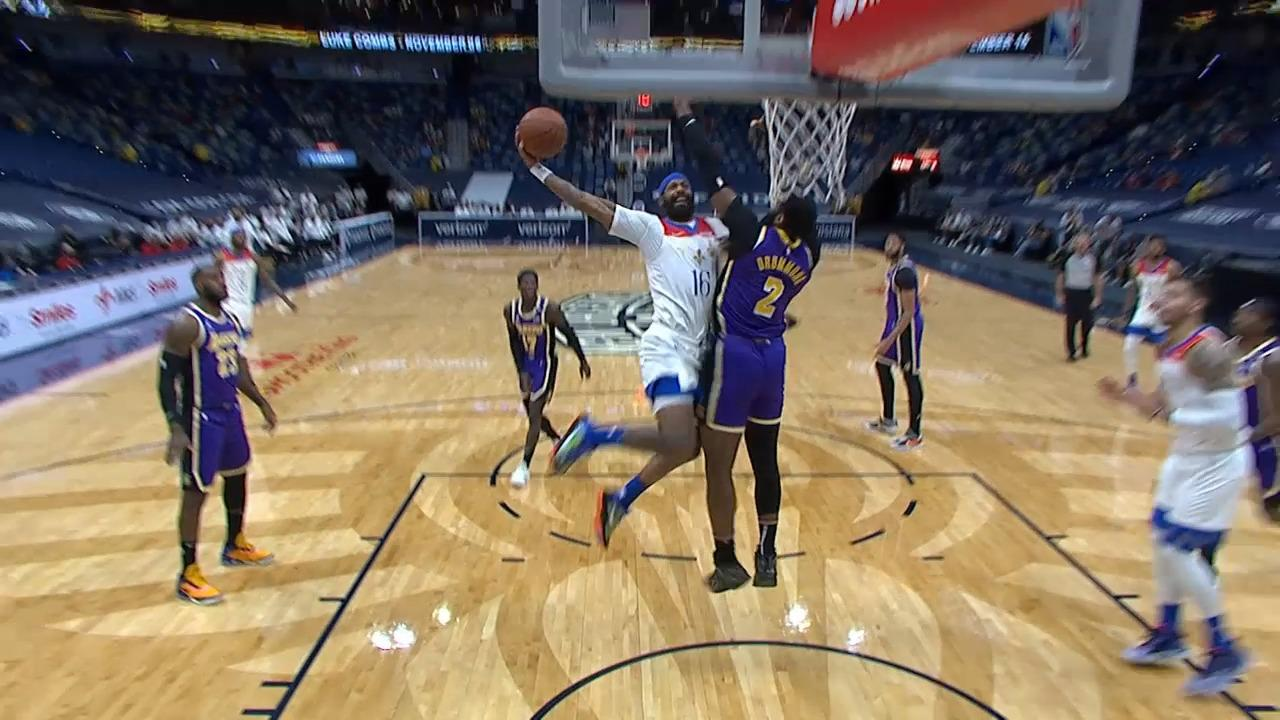 James Johnson throws it down | Pelicans-Lakers Highlights