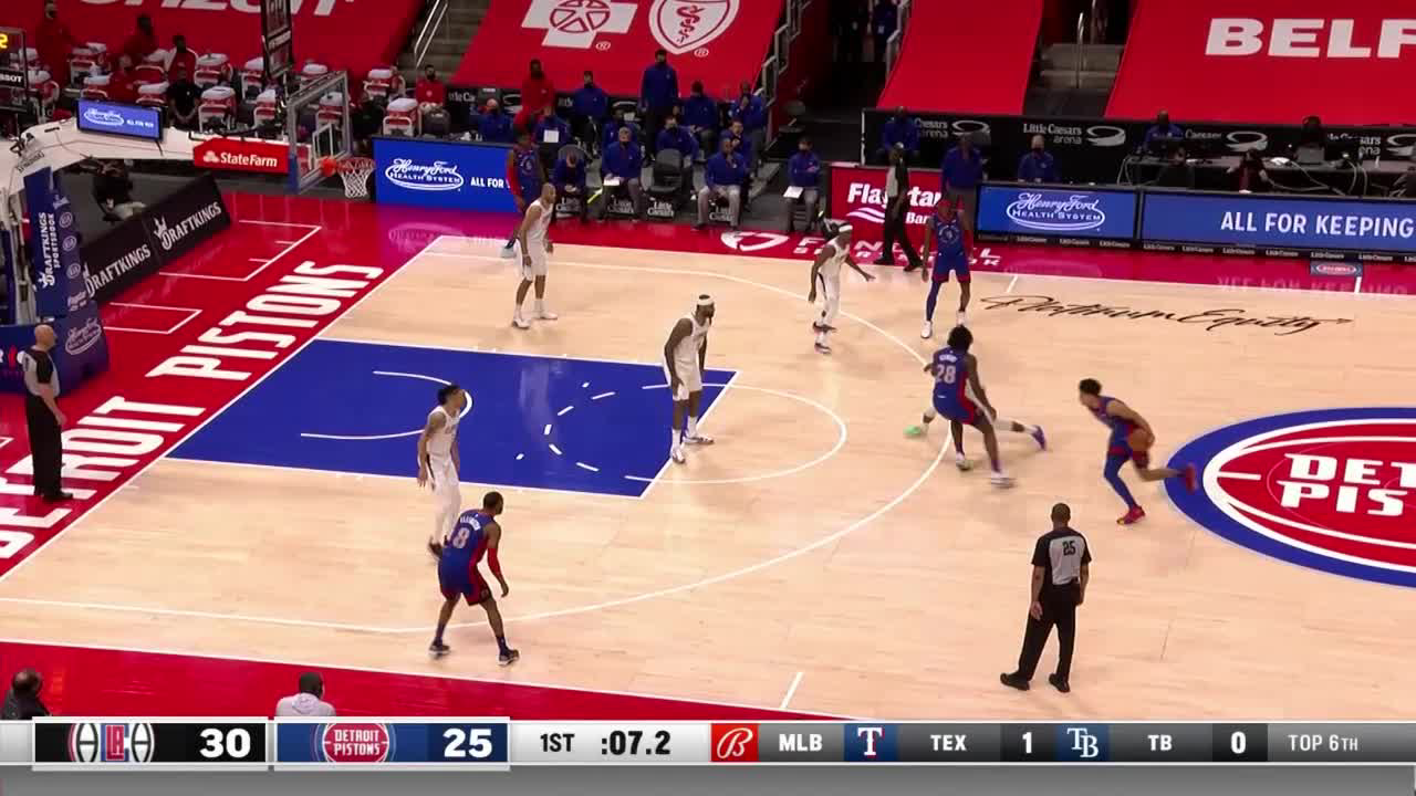 Killian Hayes Assists in Detroit Pistons vs. LA Clippers