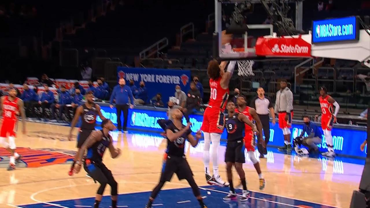 Jaxson Hayes second chance alley-oop | Pelicans-Knicks Highlights
