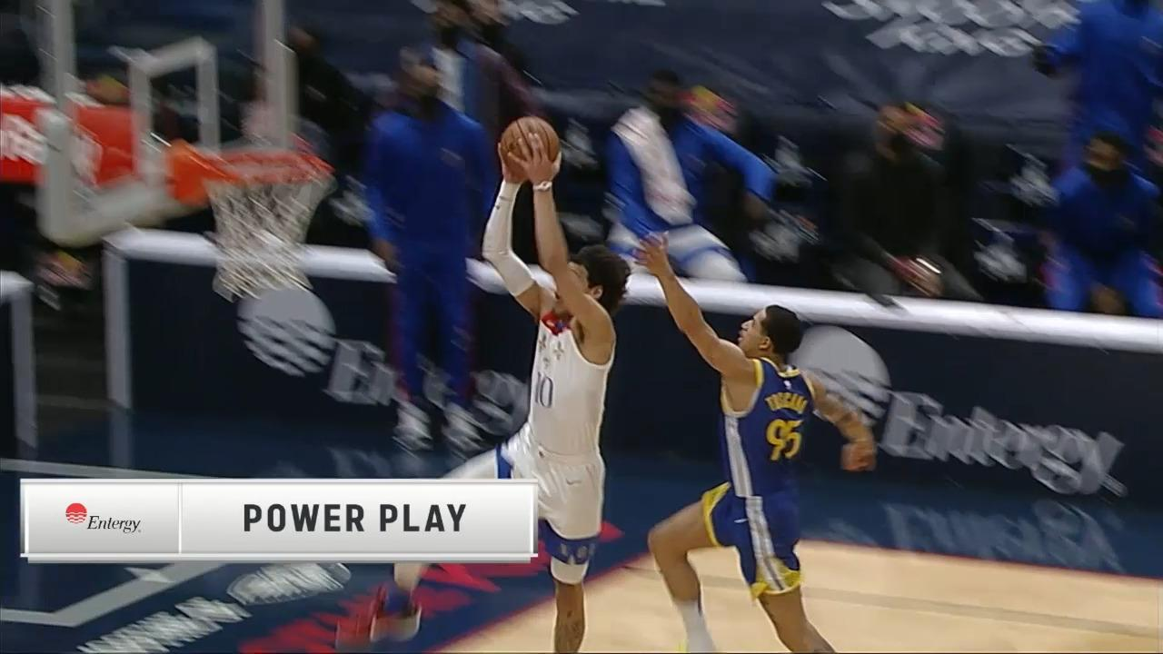 Jaxson Hayes lifts off after the inbounds steal | Pelicans-Warriors Highlights