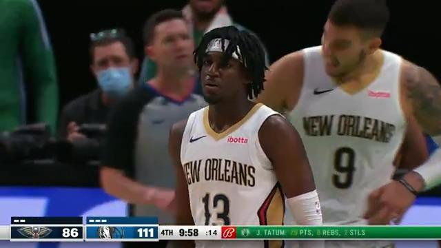 Kira Lewis Jr. with 8 straight in the 4th | Pelicans-Mavericks Highlights