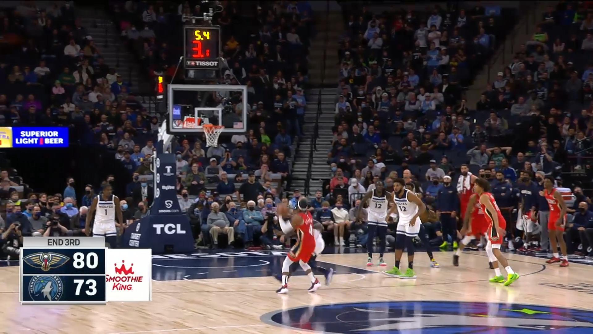 Devonte' Graham with the tough 3 | Pelicans at Timberwolves 10-25-21