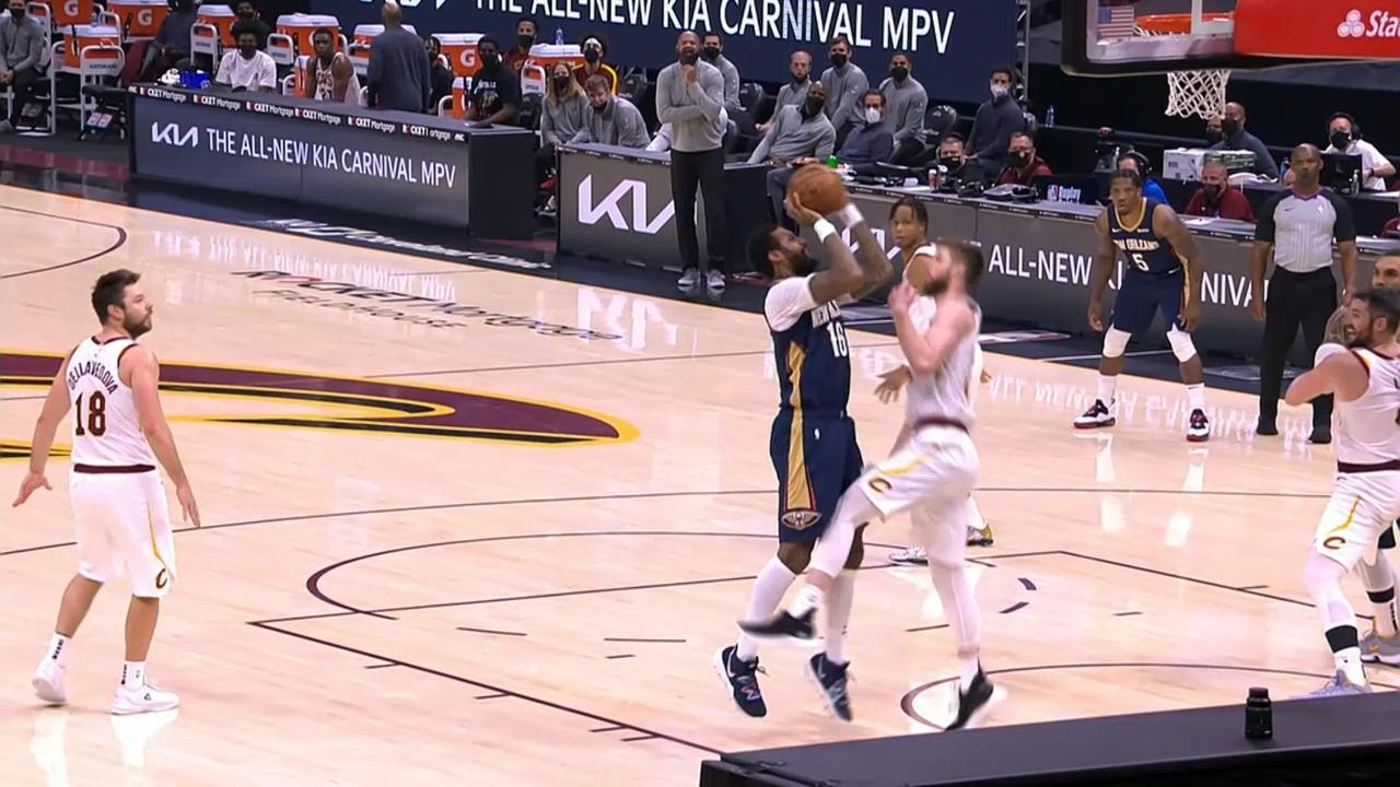 James Johnson pump fake and-1   Pelicans-Cavaliers Highlights