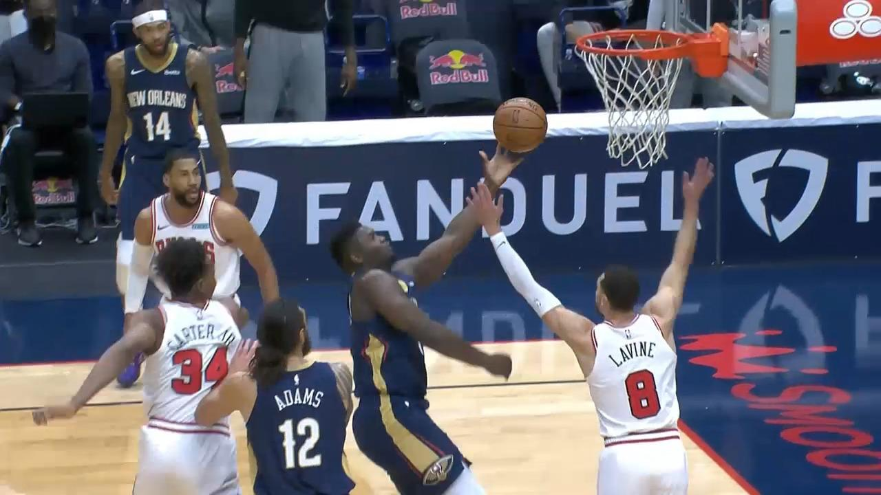 Zion with the sweet touch | Pelicans-Bulls Highlights